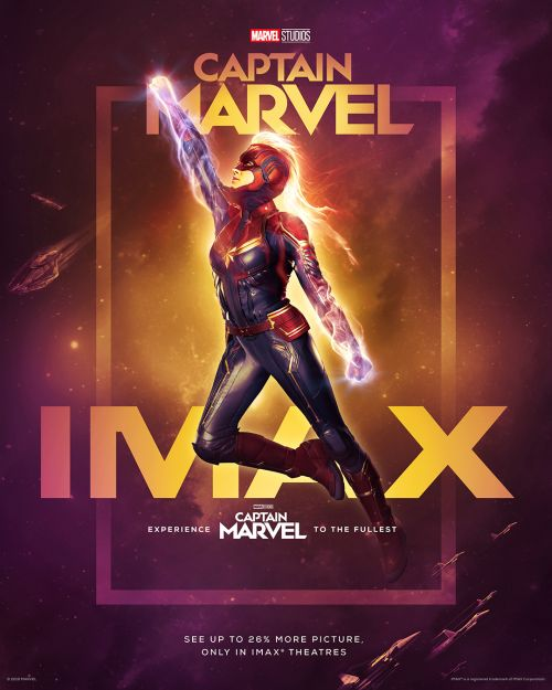 CAPTAIN MARVEL in den IMAX-Kinos - Artwork mit Brie Larson
